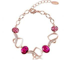 Hearts Together Bracelet with Swarovski Elements