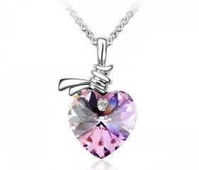 Listen to My Heartbeat Purple Necklace With SWAROVSKI ELEMENTS
