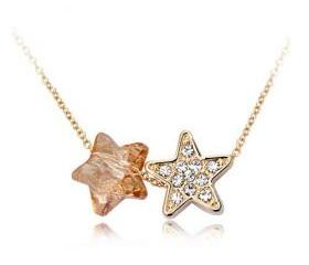 Cute Eternal Star Light Necklace with Swarovski Elements